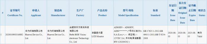 Huawei smart monitor