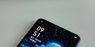 Realme under-screen camera phone