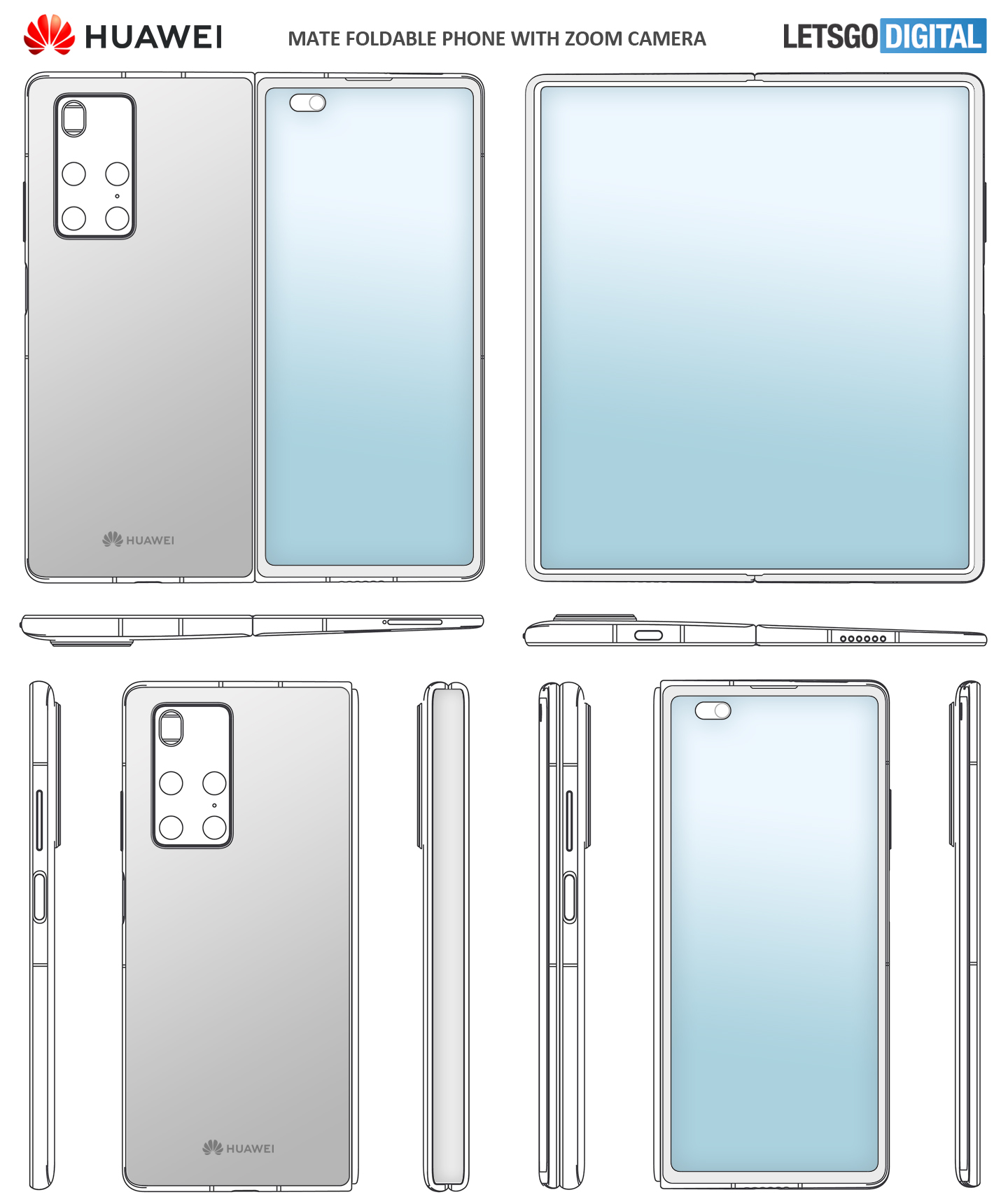 Huawei Mate X2 Leaked Patents
