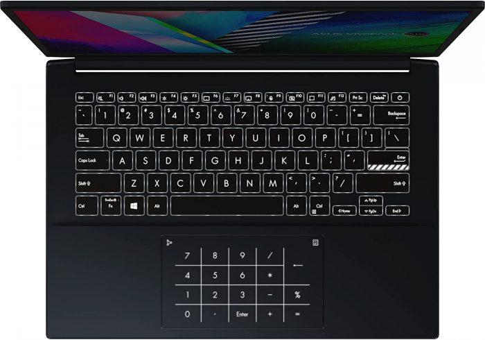 Asus Vivobook Pro 14 OLED keyboard